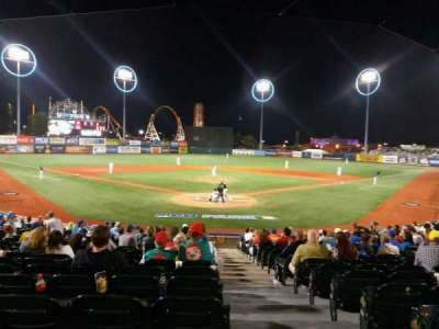 MCU Park, section: 1, row: T, seat: 1