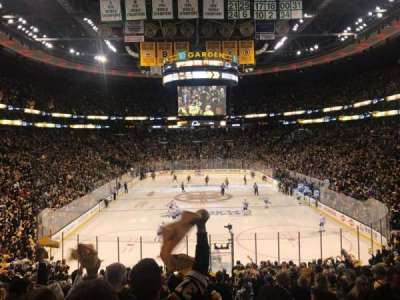 TD Garden, section: Loge 7, row: 22, seat: 2