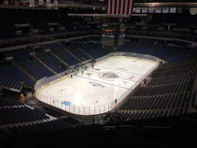 Target Center, section: 218, row: R, seat: 5