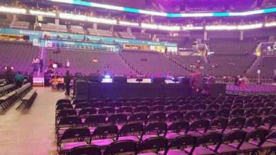 Spectrum Center, section: 105, row: A, seat: 22