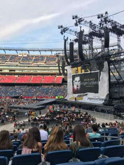 Gillette Stadium, section: 129, row: 20, seat: 5