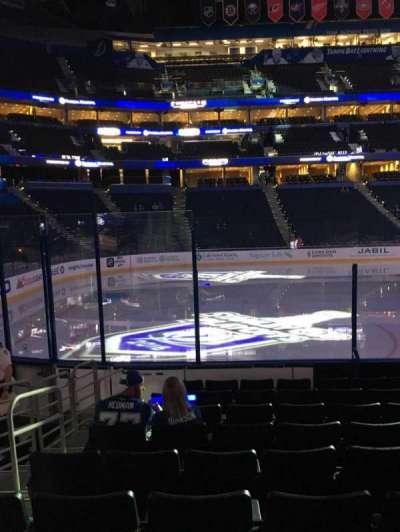 Amalie Arena, section: 103, row: J, seat: 12