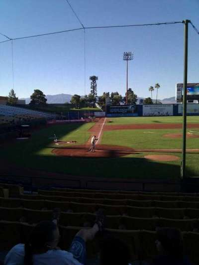 Cashman Field, section: 15, row: k, seat: 7