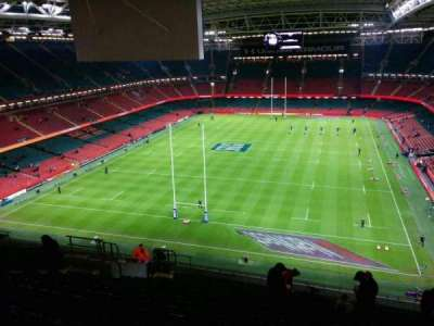 Principality Stadium, section: u18, row: 23, seat: 18