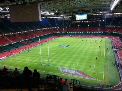 Principality Stadium, section: u17, row: 21, seat: 9