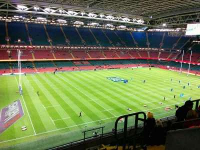 Principality Stadium, section: U13, row: 11, seat: 18