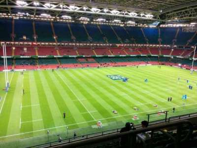 Principality Stadium, section: U12, row: 9, seat: 16