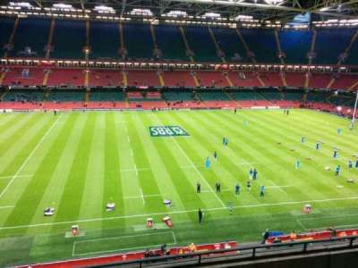Principality Stadium, section: u10, row: 5, seat: 16