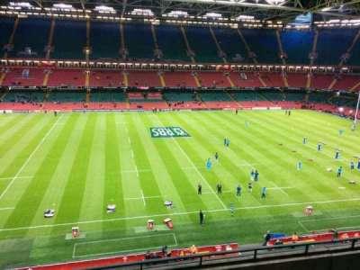 Principality Stadium, section: u10, row: 5, seat: 16