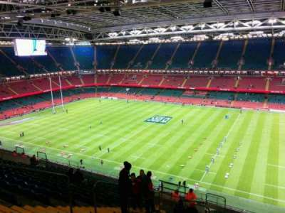 Principality Stadium, section: U6, row: 26, seat: 8