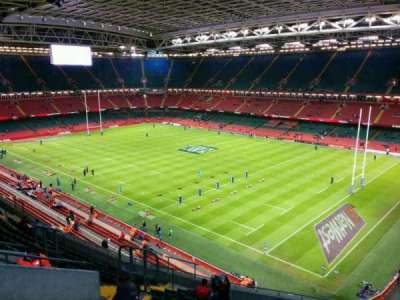 Principality Stadium, section: U4, row: 16, seat: 20