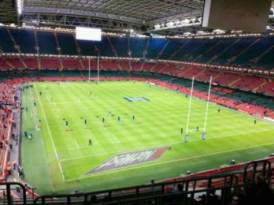 Principality Stadium, section: U1, row: 13, seat: 7
