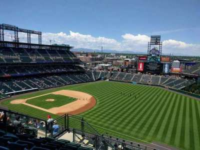 Coors Field, section: U316, row: 16, seat: 16