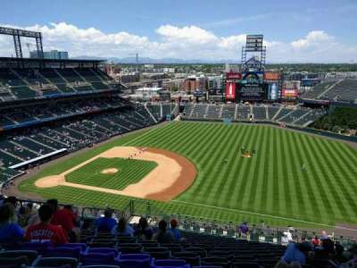 Coors Field, section: U318, row: 24, seat: 14