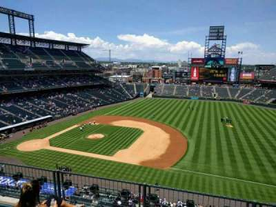 Coors Field, section: L319, row: 4, seat: 17
