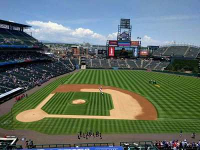 Coors Field, section: L323, row: 1, seat: 18