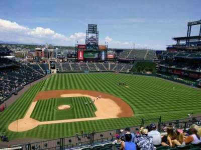 Coors Field, section: L325, row: 8, seat: 10