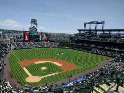 Coors Field, section: U328, row: 13, seat: 9