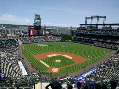 Coors Field, section: U329, row: 17, seat: 19