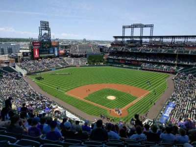 Coors Field, section: U332, row: 22, seat: 8