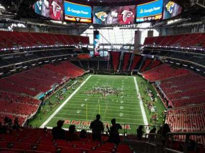 Seat view reviews from mercedes benz stadium home of for Mercedes benz stadium atlanta united