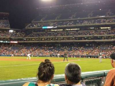 Citizens Bank Park, section: 136, row: 3, seat: 8