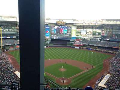 Miller Park, section: 422, row: 16, seat: 2