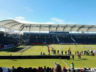 StubHub Center, section: 135, row: P, seat: 5