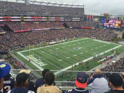 Gillette Stadium section 318