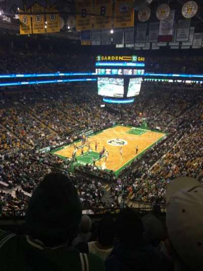 TD Garden, section: 321, row: 6, seat: 5