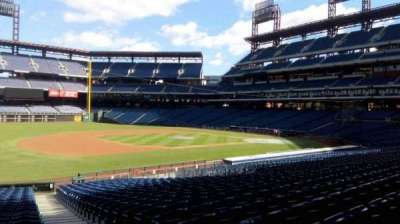 Citizens Bank Park, section: 134, row: 30, seat: 1
