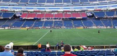 Gillette Stadium, section: 109, row: 11, seat: 12