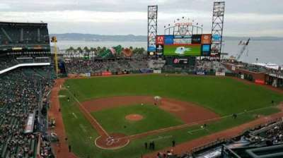 AT&T Park, section: 313, row: 1, seat: 4