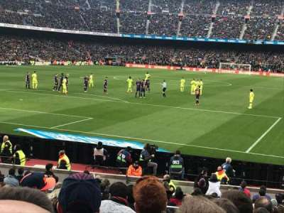 Camp Nou, section: Nike Goal, row: 30, seat: 35