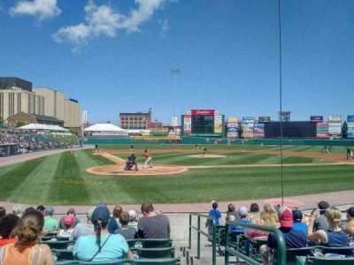 Frontier Field, section: 112, row: K, seat: 1