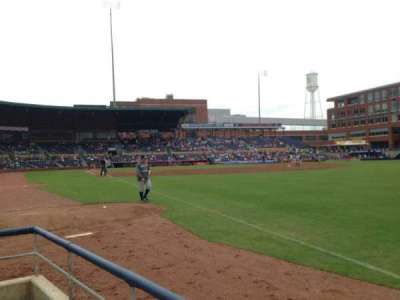 Durham Bulls Athletic Park, section: 122, row: A, seat: 1