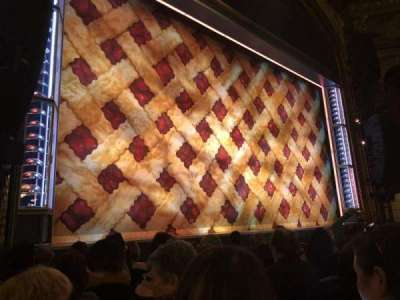 Brooks Atkinson Theatre, section: Orchestra Left, row: G, seat: 15
