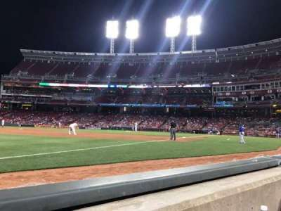 Great American Ball Park, section: 112, row: A, seat: 15