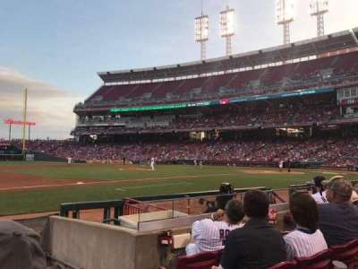 Great American Ball Park, section: 114, row: I, seat: 1