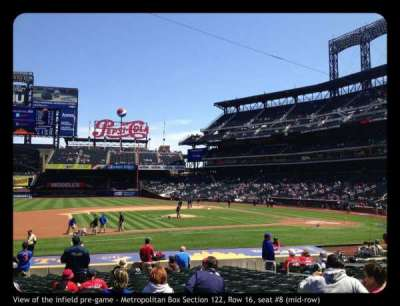 Citi Field, section: 122, row: 16, seat: 8