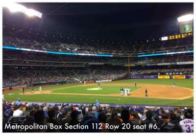 Citi Field, section: 112, row: 20, seat: 6