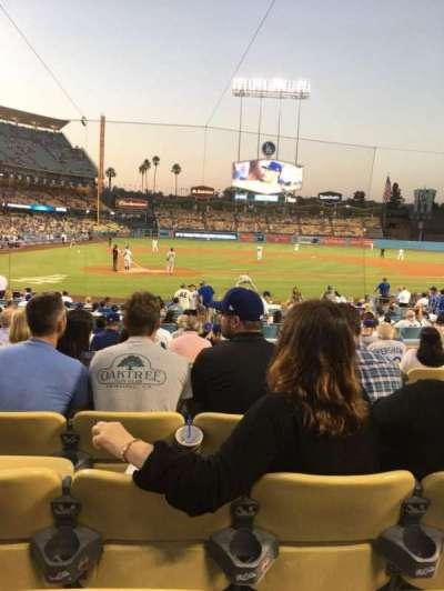 Dodger Stadium, section: 8FD, row: M, seat: 9