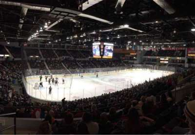 Blue Cross Arena, section: 220, row: F, seat: 12