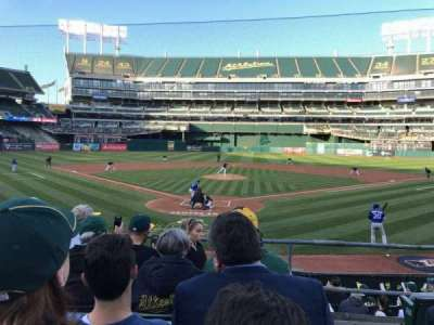 Oakland Alameda Coliseum, section: 117, row: 17, seat: 1