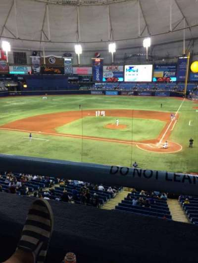 Tropicana Field, section: 205, row: A, seat: 2