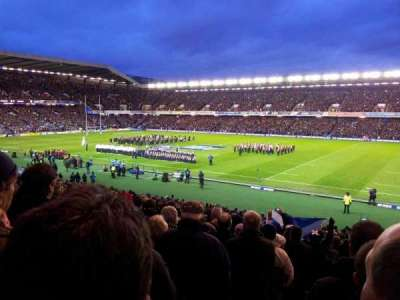 Murrayfield Stadium, section: W9, row: HH, seat: 9