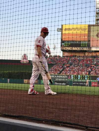 Angel Stadium, section:  Dugout Suite 2, row: A, seat: 9