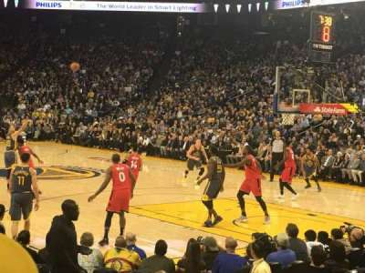 Oakland Arena section 124