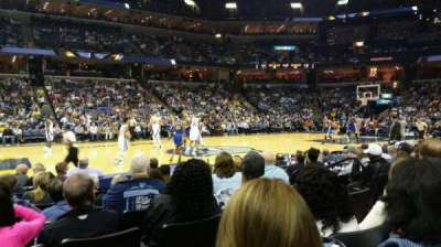 FedEx Forum, section: 104, row: H, seat: 6
