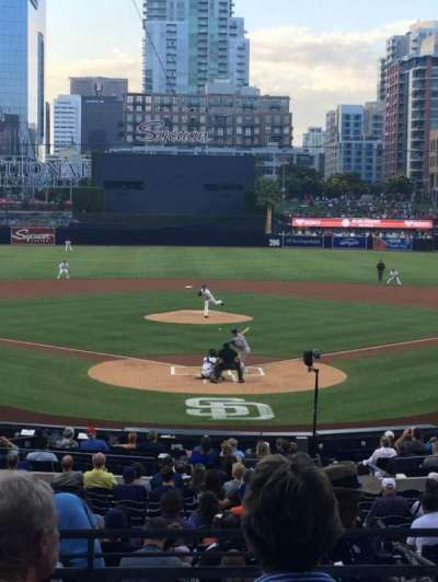 PETCO Park, section: F, row: 4, seat: 3